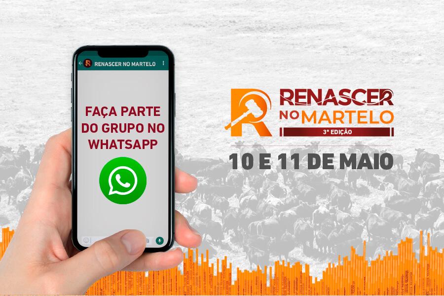 Participe do grupo do WhatsApp do Renascer no Martelo 3ª edição
